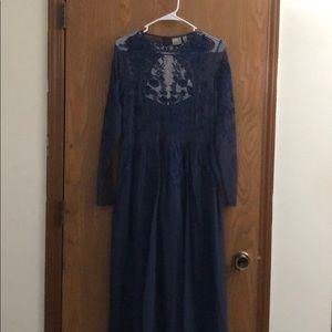 ASOS DESIGN long sleeve maxi dress